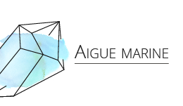Aigue marine - Les Pierrettes bijoux en pierres Paris