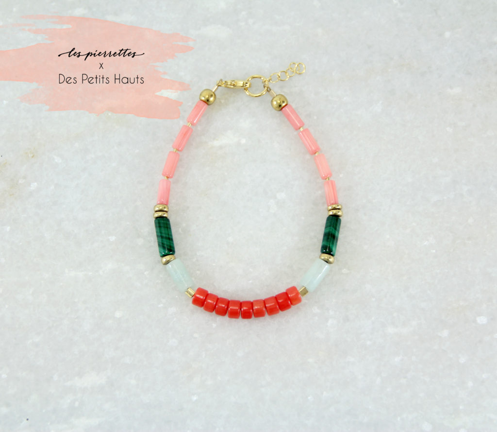 PALMI Bracelet // Plaqué or et pierres fines - Collaboration Des Petits Hauts, Les Pierrettes