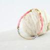 Bracelet Folk rose Les Pierrettes Bambou de mer Plaqué Or