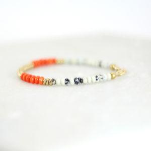 Bracelet KAMALA les pierrettes bijou plaqué or